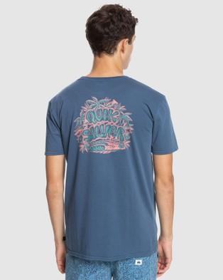 Quiksilver Mens Surf Safari Organic T Shirt - T-Shirts & Singlets (SARGASSO SEA)