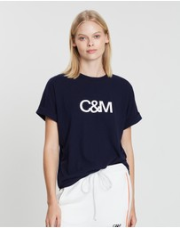 C & M Camilla and Marc - Huntington Logo Slub Tee