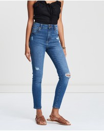 Cotton On - High-Rise Grazer Skinny Jeans
