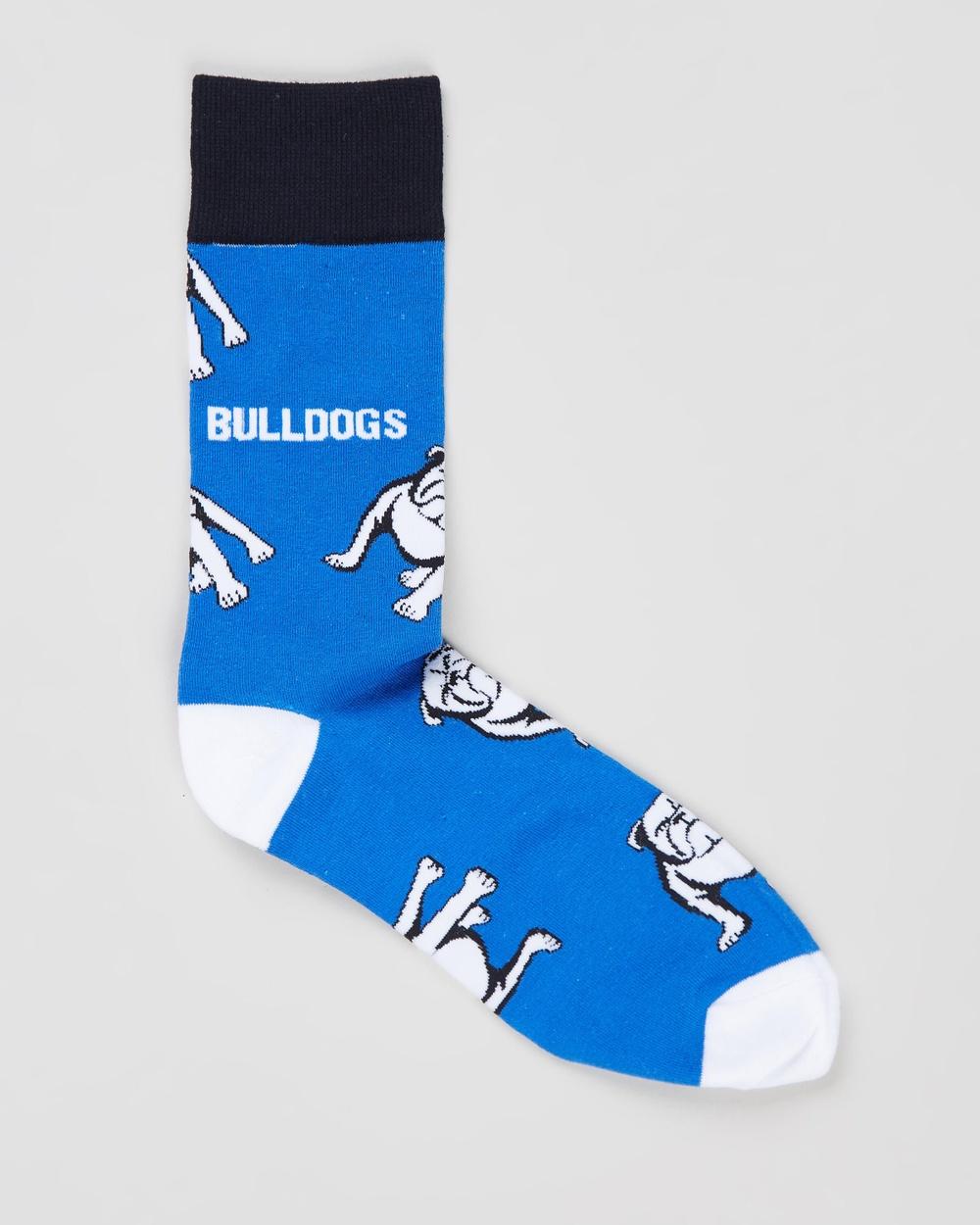 Foot-ies Canterbury Bulldogs Large Logo Socks Accessories Blue & White