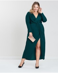 Missguided Curve - Wrap Front Knot Front Dress