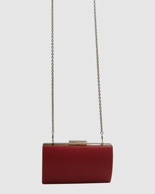 Morgan & Taylor Katie Pod Bag - Clutches (RED)
