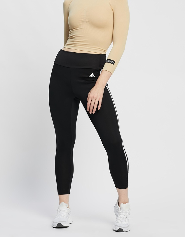 Women Designed To Move High Rise 3-Stripes 7/8 Sports Tights