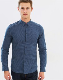 PS by Paul Smith - Slim Fit Micro Cross Shirt