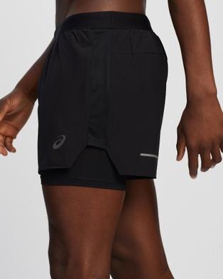 ASICS Road 2 N 1 5 Inch Short   Men's - Shorts (Performance Black)