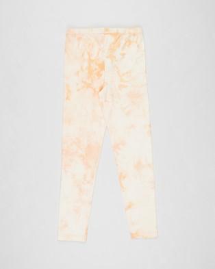 Free by Cotton On Alex Leggings   Teens - Clothing (Apricot Sun Tie Dye)