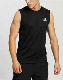 adidas Performance - AEROREADY Designed To Move 3-Stripes Sport Tank