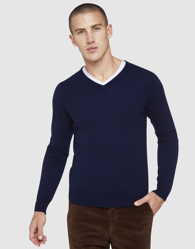 Oxford - Pure Cashmere V-Neck Pullover