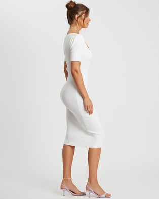 Savel - Layla Midi Dress - Bodycon Dresses (White) Layla Midi Dress