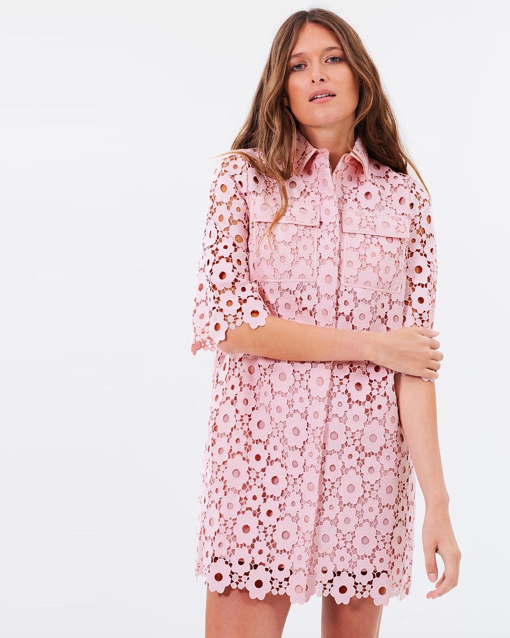 Whistles Lia Daisy Lace Dress Dresses Pale Pink Lia Daisy Lace Dress