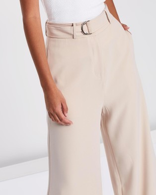 FRIEND of AUDREY Gemma Wide Leg D Ring Pants - Pants (Nude)