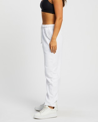 Missguided 90s Oversized Joggers - Sweatpants (White)