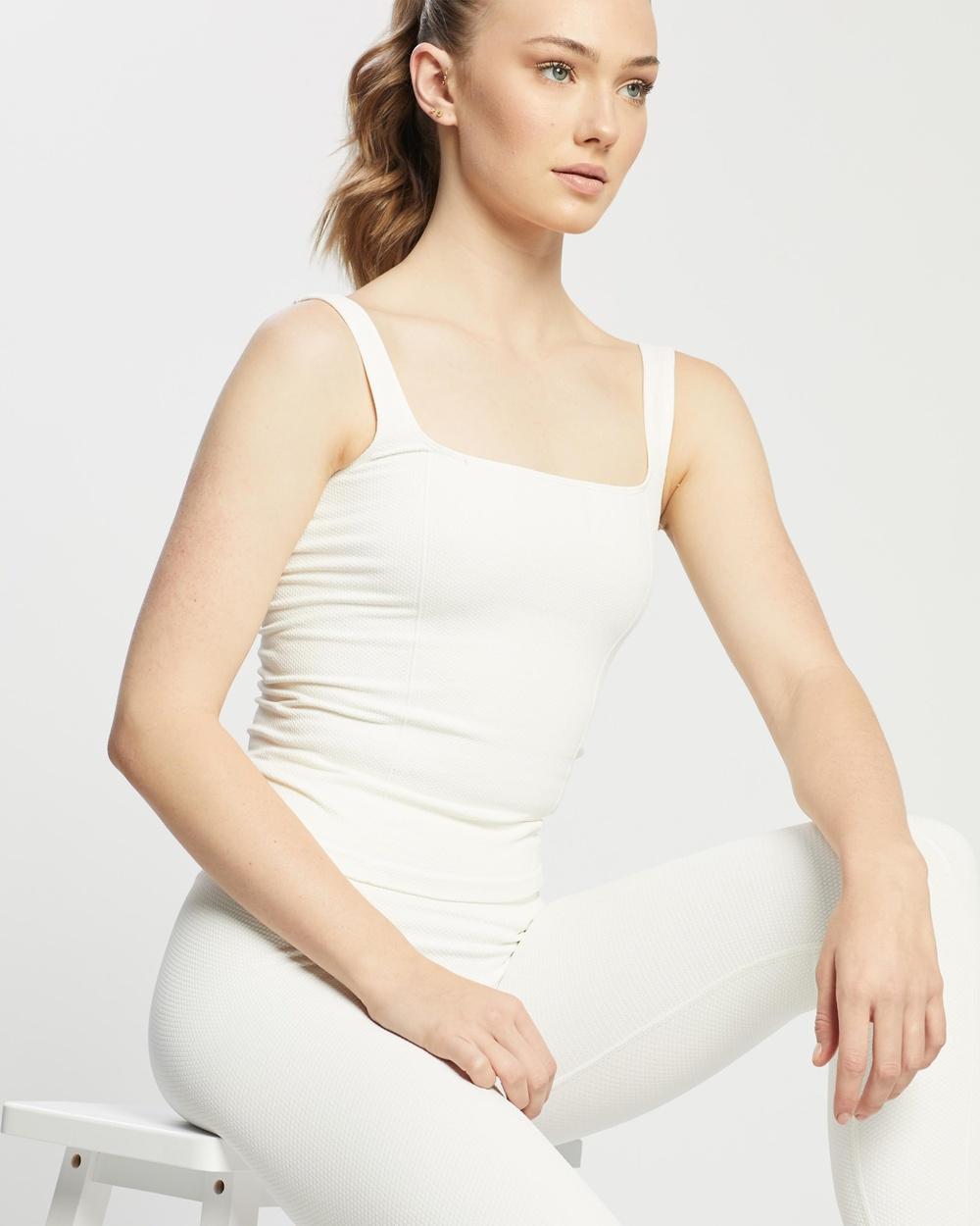 Aim'n Luxe Seamless Singlet T-Shirts & Singlets Off-White Singlets Australia