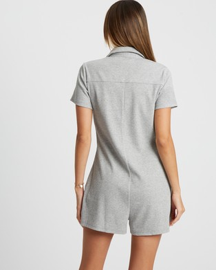 Calli Amber Playsuit - Jumpsuits & Playsuits (Light Grey)