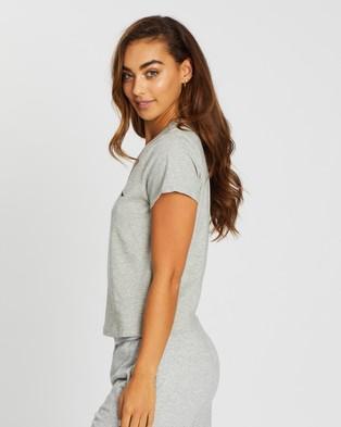 Calvin Klein CK One Basic Lounge Jersey Short Sleeve Crew Neck Tee T-Shirts Grey Heather