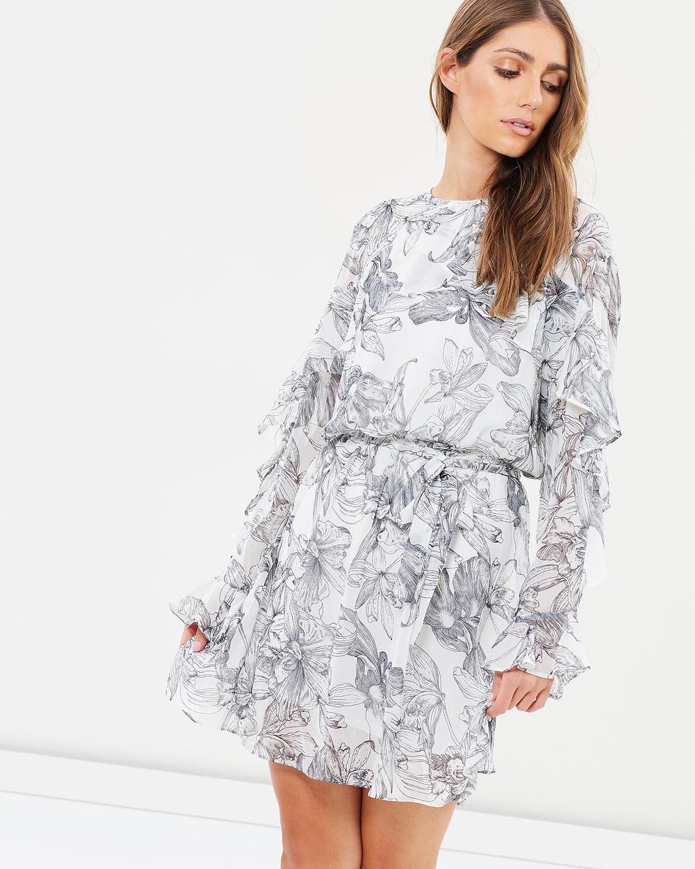 Fresh Soul Nevada Dress Printed Dresses White Floral Print Nevada Dress