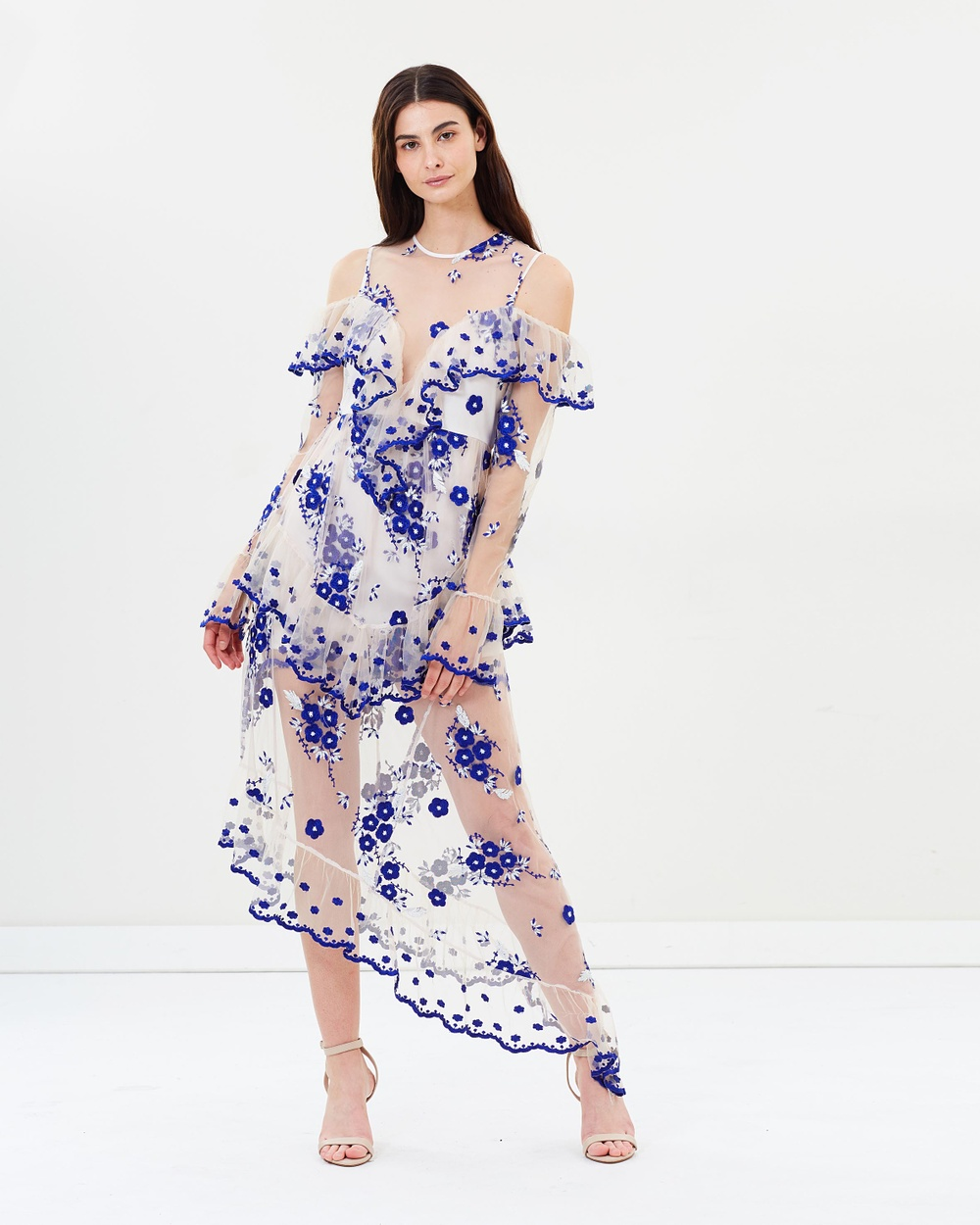 alice McCALL Mirage Gown Dresses Nude & Blue Mirage Gown