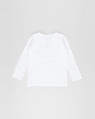 Bonds Kids - Long Sleeve Aussie Cotton Crew Tee   Kids - T-Shirts & Singlets (Nu White) Long Sleeve Aussie Cotton Crew Tee - Kids