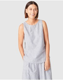 French Connection - Stripe Linen Tank