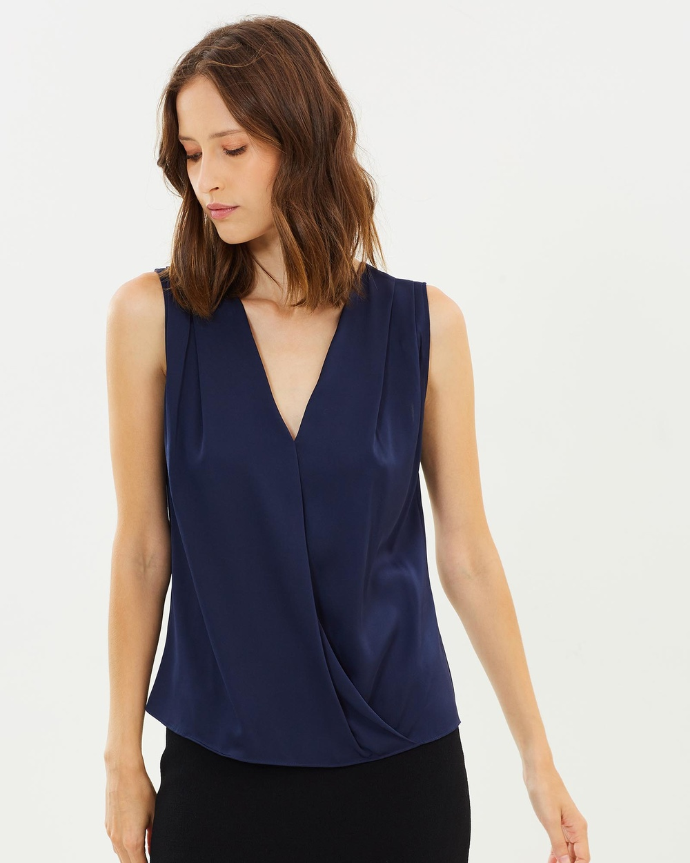 CARL KAPP Wrap Top Tops Arsenic Wrap Top