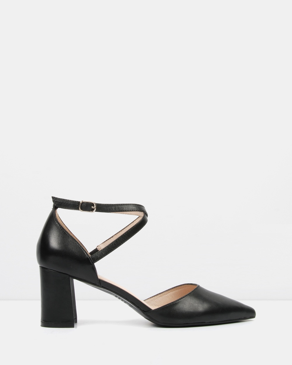 Jo Mercer Iluka Mid Heels Mid-low heels Black Leather Iluka Mid Heels