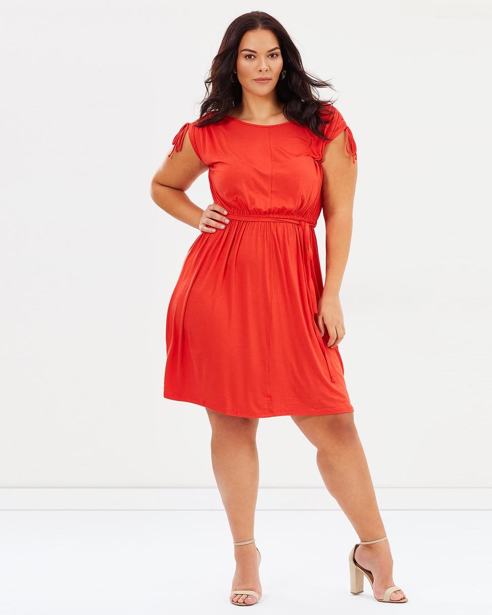 DP Curve Jersey Midi Dress Dresses Coral Jersey Midi Dress
