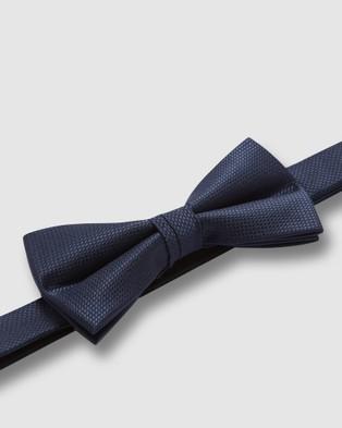 Buckle Wedding Bow Tie - Ties & Cufflinks (Navy)