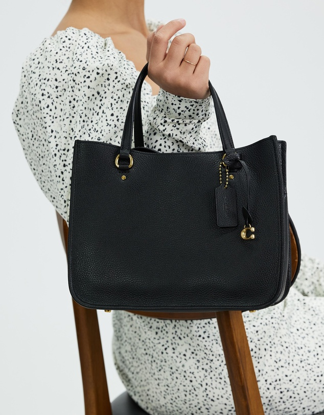 Women Polished Pebble Leather Tyler Carryall