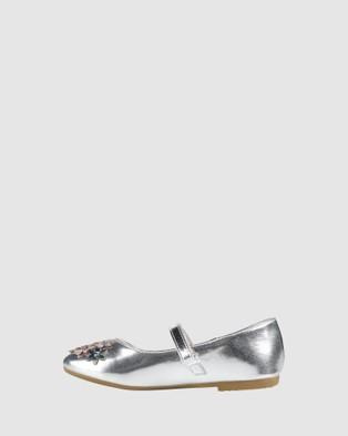 Candy Caron - Flats (Silver Bright Multi)