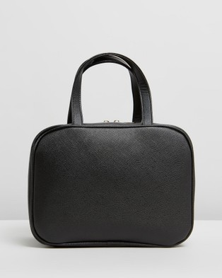 PETA AND JAIN Sutton Cosmetic Holdall - Bags & Tools (Black Saffiano)