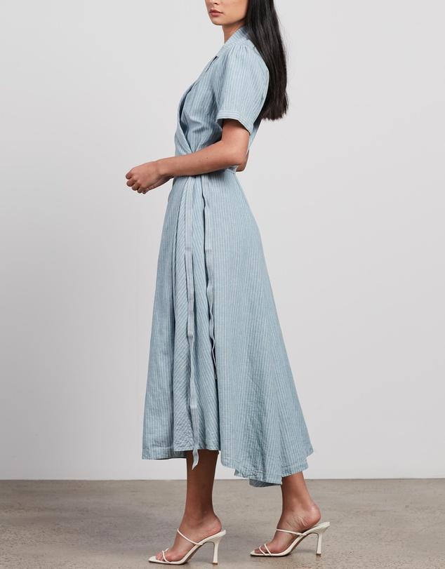 Women Adele Wrap Short Sleeve Day Dress