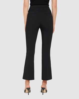 Forever New Bella High Waisted Bootcut Pant - Pants (Black)