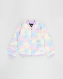 Rock Your Kid - Iconic Exclusive - Multi-Colour Faux Fur Jacket - Kids-Teens
