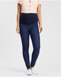 Soon Maternity - Coco Super Stretch Overbelly Denim Jeans