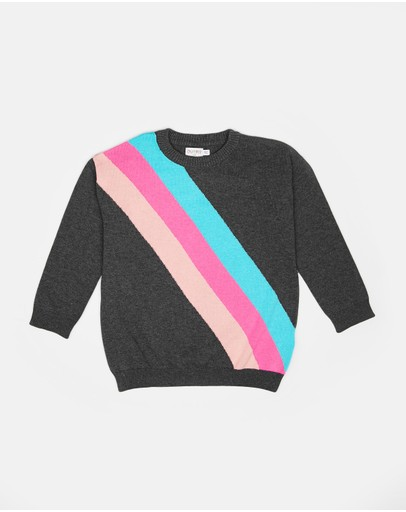 Outfit Kids - Diagonal Stripe Knitted Jumper
