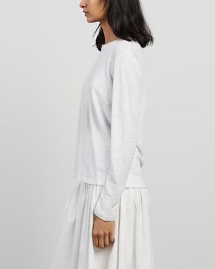Elka Collective - EC Linen LS Tee 2.0 T-Shirts & Singlets (White)
