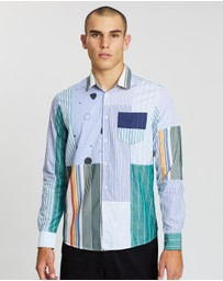 Soulland - Over/Out Alan Upcycled Patchwork Shirt