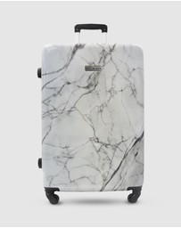 JETT BLACK - White Marble Series Luggage Set