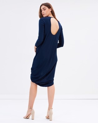 Gary Bigeni – Felipe Twist Hem Dress Dress Blue