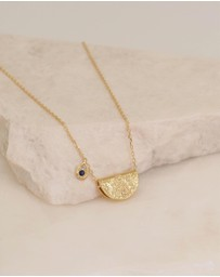 By Charlotte - September Live With Devotion Gold Pendant Necklace