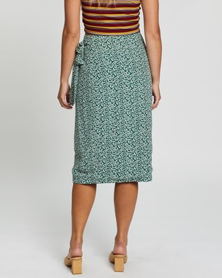 Glamorous Squiggle Skirt - Skirts (Forest Green)