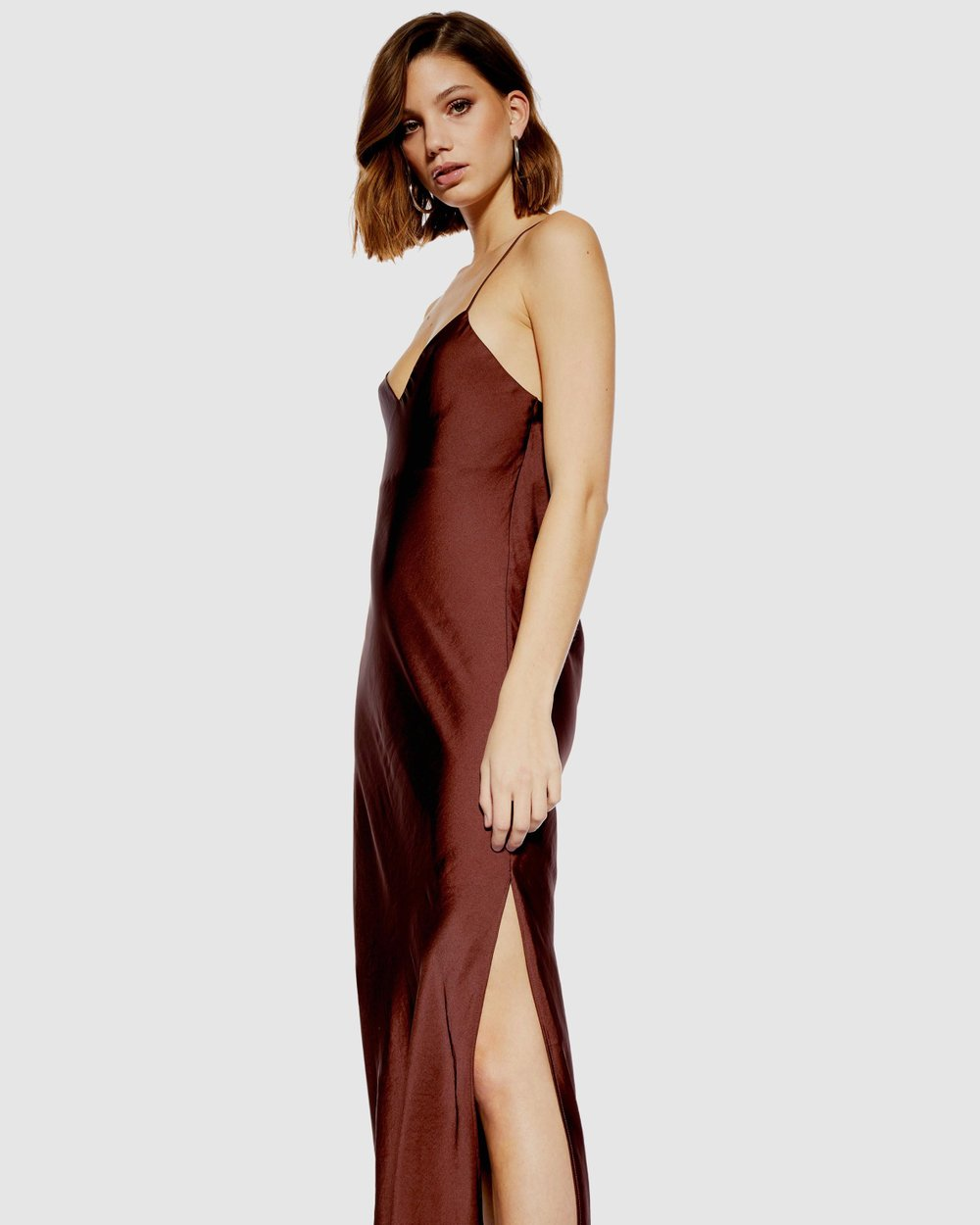 aa62bd26 Plain Satin Slip Dress by TOPSHOP Online | THE ICONIC | Australia