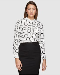Oxford - Poppy Circle Life Printed Blouse