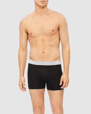 Calvin Klein 5 Pack Cotton Trunks - Boxer Briefs (Black, Rudy, Krypton & Grey Heather)