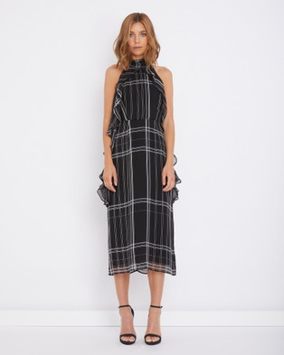Calli – Fleur Dress – Printed Dresses Black