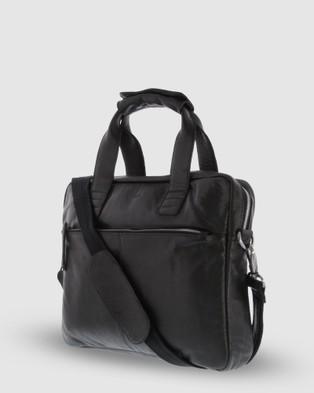 Cobb & Co Lawson Jr. Soft Leather Briefcase - Satchels (Black)