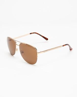 Mestige Wanderlust with Swarovski?« Crystals - Sunglasses (Gold)