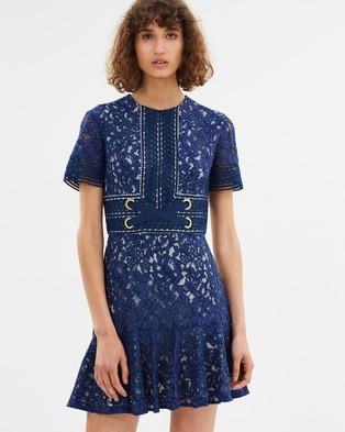 Lover – Flora Mini Flip Dress Indigo