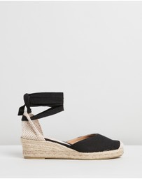 OFFICE - Mini Low Canvas Wedges