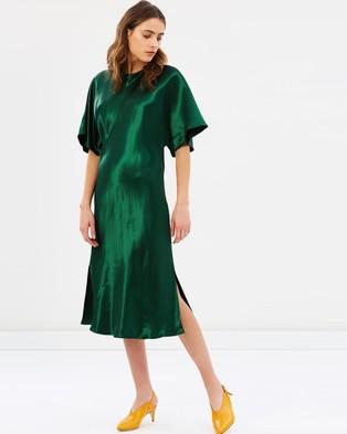 Christopher Esber – Magyar Tee Dress Barnato Green